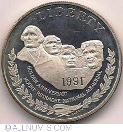 1 Dollar 1991 S - Mount Rushmore National Memorial