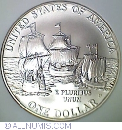 Image #1 of 1 Dollar 2007 P - 400th Anniversary of Jamestown, Virginia
