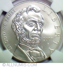 Image #2 of 1 Dollar 2009 P - 200th anniversary of the birth of the 16th President of the United States, Abraham Lincoln
