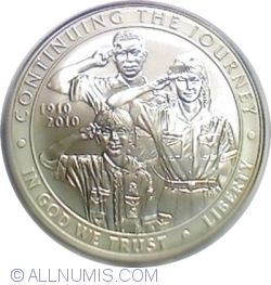 Image #2 of 1 Dollar 2010 P - 100th Anniversary of the Boy Scouts of America