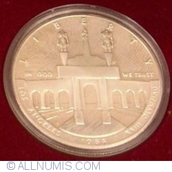 Image #2 of Silver Dollar 1983 S - Los Angeles Olympics 1984