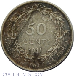 Image #1 of 50 Centimes 1911 (french text)