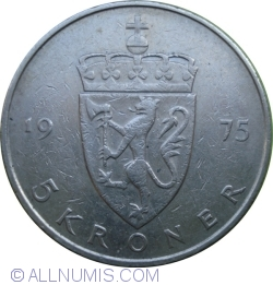 Image #1 of 5 Kroner 1975