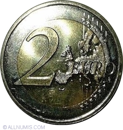 """2014 Luxembourg 2 Euro Uncirculated Coin /""""Grand-Duke Jean/'s Accession 50 Years/"""""""