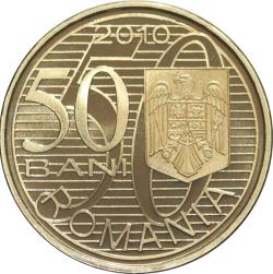 50 Bani 2010 - 100 de ani de la primul zbor românesc efectuat de Aurel Vlaicu, cu un aparat de construcţie proprie - monedă pentru colecţionare