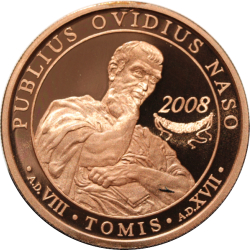 Image #2 of 1 Leu 2008 - Publius Ovidius Naso - 2,000 years from his being sent into exile in Tomis