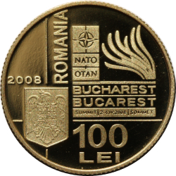 Image #1 of 100 lei 2008 - The NATO Summit organised in Bucharest during 2-4 April 2008
