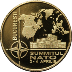 Image #2 of 100 lei 2008 - The NATO Summit organised in Bucharest during 2-4 April 2008