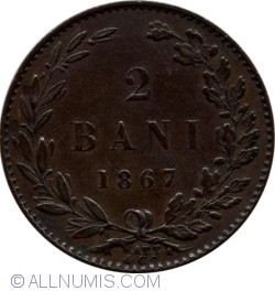 Imaginea #1 a 2 Bani 1867 (Watt & Co.)