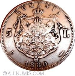 Imaginea #1 a 5 Lei 1880 Kullrich pe cerc