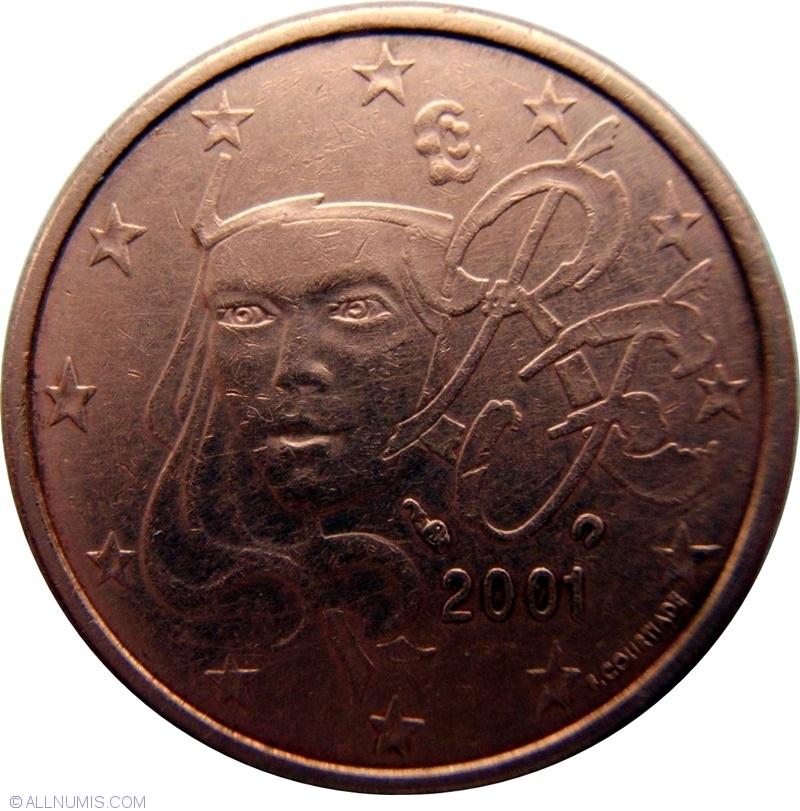 5 Euro Cent 2001 Euro 1999 2009 France Coin 2541
