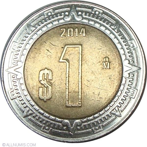 1 Peso 2014 United Mexican States 2001 Present Mexico