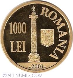Image #1 of 1000 Lei 2001 - 1900 years since the first Dacian-Roman war