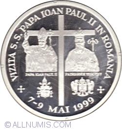 Imaginea #2 a 100 Lei 1999 - Vizita Papei Ioan Paul al II-lea - 7-9 Mai