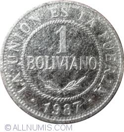 Image #1 of 1 Boliviano 1987