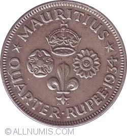 Image #1 of 1/4 Rupee 1934