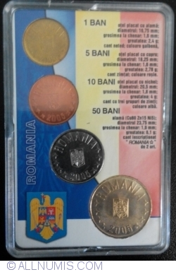 Image #2 of 2005 - Mint set dedicated to the introduction of the new leu (RON)