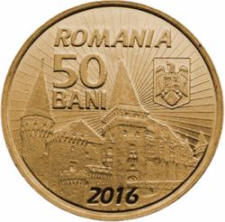 Imaginea #1 a 50 Bani 2016 - 575 de ani de când Iancu de Hunedoara a devenit voievod al Transilvaniei