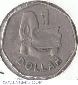 Image #2 of 1 Dollar  1977