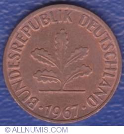 Image #2 of 1 Pfennig 1967 F