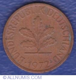 Image #2 of 1 Pfennig 1972 D