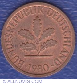 Image #2 of 1 Pfennig 1980 F