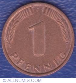 Image #1 of 1 Pfennig 1991 F