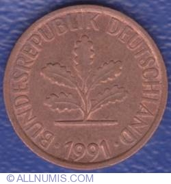 Image #2 of 1 Pfennig 1991 F