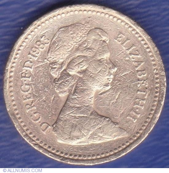 Coin Of 1 Pound 1983 From Great Britain Id 2896