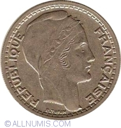 Image #2 of 10 Francs 1946 B
