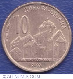Imaginea #1 a 10 Dinari 2003