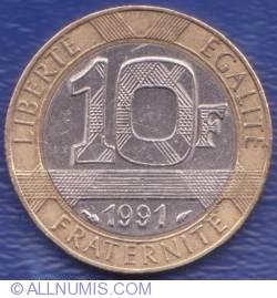 Image #1 of 10 Francs 1991