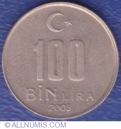 Image #1 of 100000 (100 Bin) Lira 2003