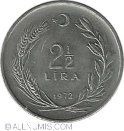 Imaginea #1 a 2,5 Lira 1972