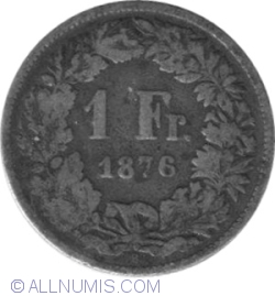 Image #1 of 1 Franc 1876 B