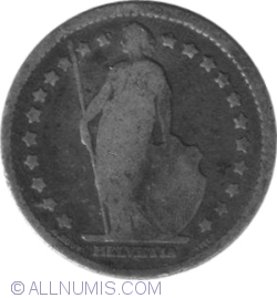 Image #2 of 1 Franc 1876 B