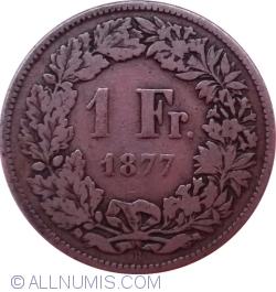 Image #1 of 1 Franc 1877 B
