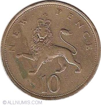 10 New Pence 1975 Elizabeth Ii 1952 Present Great Britain Coin 1663