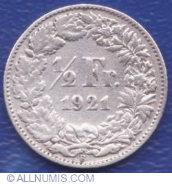 Image #1 of 1/2 Franc 1921