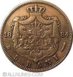 Imaginea #1 a 5 Bani 1884