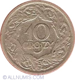 Image #1 of 10 Groszy 1923 - Nickel