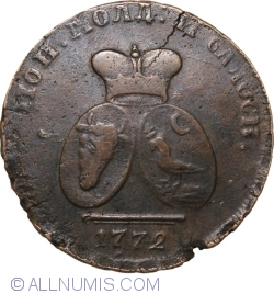 Image #2 of 2 Para 3 Kopeks 1772