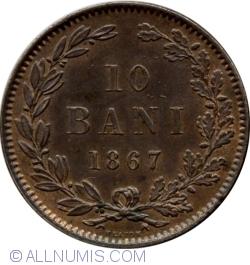 Imaginea #1 a 10 Bani 1867 (Heaton)