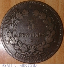 Image #1 of 5 Centimes 1876 K