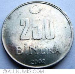 Image #1 of 250 000 (250 Bin) Lira 2002