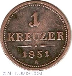 1 Kreuzer 1851 A