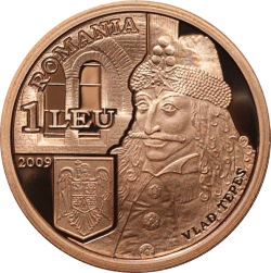 Image #1 of 1 Leu 2009 - Numismatic set dedicated to Vlad Ţepeş on the occasion of celebrating 550 years since the first mention in writing of Bucharest, under his rule, on 20 September 1459