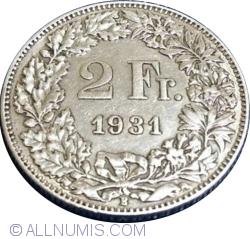 Imaginea #1 a 2 Francs 1931 B