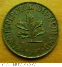 Image #2 of 2 Pfennig 1961 D