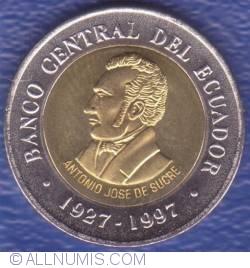 Imaginea #1 a 100 Sucres 1997 - Aniversarea a 70 de ani - Banca Centrala